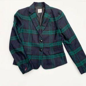 Gap Academy school boy tartan green plaid blazer 6